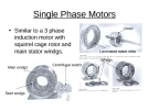 Single Phase Motors