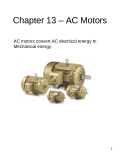 Chapter 13 – AC Motors