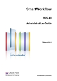 SmartWorkflowR75.40Administration Guide7 March 2012Classification: [Protected].© 2012 Check