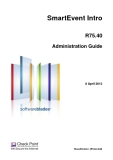 SmartEvent Intro R75.40 Administration Guide