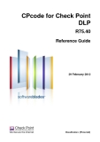 CPcode for Check Point DLP R75.40 Reference Guide