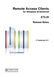 Remote Access Clients for Windows 32-bit/64-bit  E75.20 Release Notes
