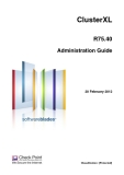 ClusterXL R75.40 Administration Guide