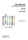 SecuRemote for Windows 32-bit/64-bit  E75.20 User Guide