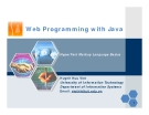 Web Programming with Java - HyperText Markup Language Basics