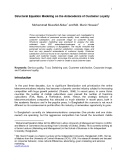 Báo cáo : Structural Equation Modeling on the Antecedents of Customer Loyalty Mohammad Muzahid Akbar1 and Md. Munir Hossain2
