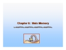 Operating System Concepts - Chapter 8: Main Memory