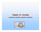 Operating System Concepts - Chapter 15: Security