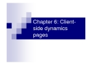 Chapter 6: Clientside dynamics pages