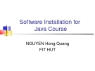 Software Installation for Java Course
