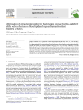 """Báo cáo khoa học """" Optimisation of extraction procedure for black fungus polysaccharides and effect of the polysaccharides on blood lipid and myocardium antioxidant enzymes activities """""""