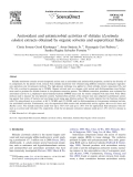 """Báo cáo khoa học """" Antioxidant and antimicrobial activities of shiitake (Lentinula edodes) extracts obtained by organic solvents and supercritical fluids """""""