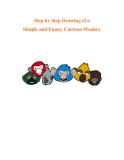 Step by Step Drawing of a Simple and Funny Cartoon Monkey