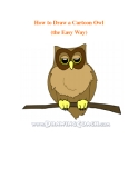How to Draw a Cartoon Owl (the Easy Way)