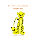 How to Draw a Cartoon Cheetah (the Easy Way)