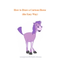 How to Draw a Cartoon Horse (the Easy Way)