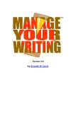 Manage Your Writing