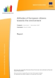 Attitudes of European citizens towards the environment