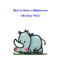 How to Draw a Rhinoceros (the Easy Way)