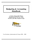 Handbook of Budgeting and Accounting...