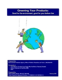 Greening Your Products:  Good for the environment, good for your bottom line