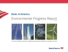 Bank of America Environmental Progress Report