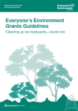 Everyone's Environment Grants Guidelines