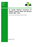 Air Quality Pollutant Inventories for England, Scotland, Wales and Northern Ireland: 1990 – 2010