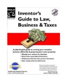 Inventors Guide To Law Business And Taxes