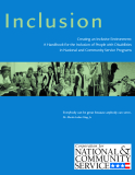 Creating an Inclusive Environment: A Handbook for the Inclusion of People with Disabilities in National and Community Service Programs