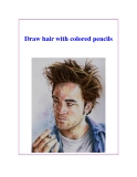 Draw hair with colored pencils