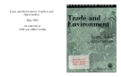 Trade and Environment: Conflicts and Opportunities