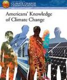 Americans' Knowledge of Climate Change