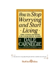 Book: How To Stop Worrying And Start Living