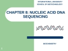 CHAPTER 8: NUCLEIC ACID DNA SEQUENCING