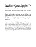 State-of-the-Art Antenna Technology: The 2008 Antenna Applications SymposiumFrom