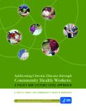 Addressing Chronic Disease through  Community Health Workers:  A POLICY AND SYSTEMS-LEVEL APPROACH