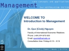 Management-Introduction to Management