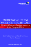 Sách: ENSURING VALUE FOR MONEY IN HEALTH CARE