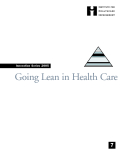 Going Lean in Health Care