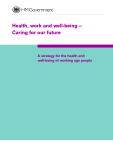 Health, work and well-being – Caring for our future