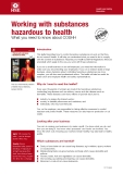 Working with substances hazardous to health