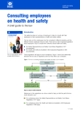 Consulting employees on health and safety