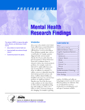 Mental Health Research Findings