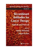 Methods in Molecular BiologyTM VOLUME 207 Edited by Martin Welschof Jürgen Krauss Recombinant Antibodies for Cancer Therapy Methods and Protocols