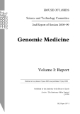 Genomic Medicine Volume I: Report