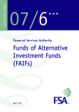 Financial Services Authority: Funds of Alternative Investment Funds (FAIFs)