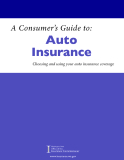 A Consumer's Guide to: Auto Insurance - Mike Kreidler