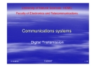 Communications systems Digital Transmission