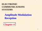 ELECTRONIC COMMUNICATIONS SYSTEMS - Chapter 4 Amplitude Modulation Reception
